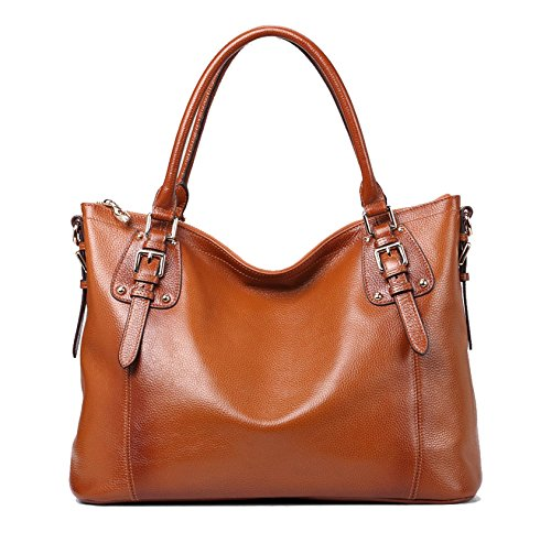 $99.99 Kattee Vintage Genuine Soft Leather Large Tote Shoulder Bag