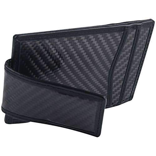 Money Clip, Front Pocket Wallet, Carbon Fiber RFID Blocking