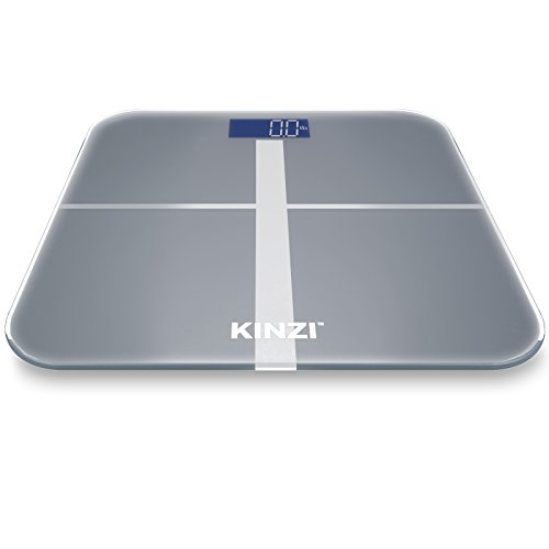 Kinzi Precision Digital Bathroom Scale w/ Extra Large Lighted