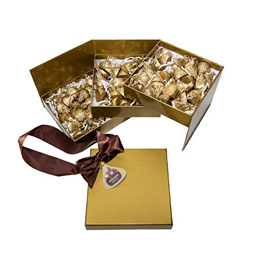 $16.17 Kisses Deluxe Candy Gift Box, 21.7 Ounce