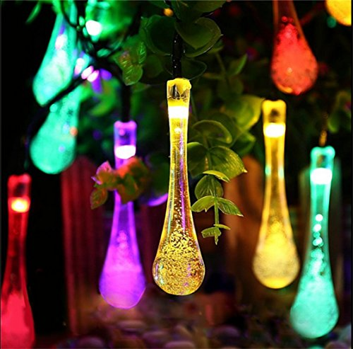 Kitclan 20ft 30LEDs Solar Outdoor String Lights - Multi-color