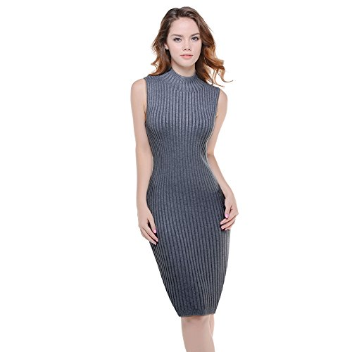 KnitLove? Women\' Fitted Turtleneck Shaping Long Sleeve Knit Bodycon