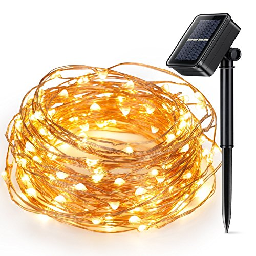 Solar Powered Christmas String Light, Kohree 100 Micro LEDs