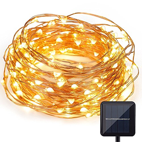 Solar Powered Christmas String Light, Kohree 120 Micro LEDs