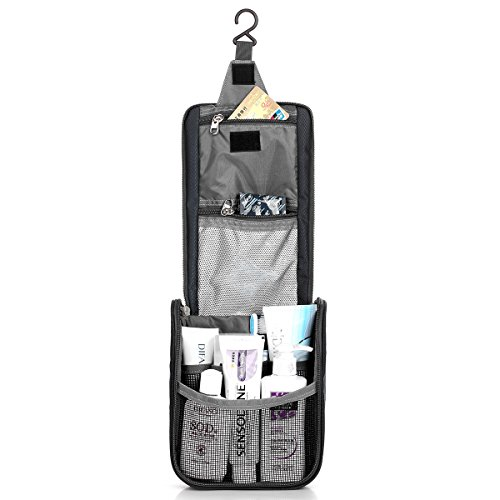 LEATHARIO Travel Toiletry Bag Outdoor Sports Pack Wash Gargle