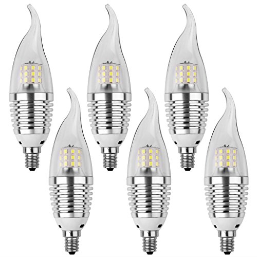 LEDMO LED Candelabra Bulb, Base E12 7W, Daylight White