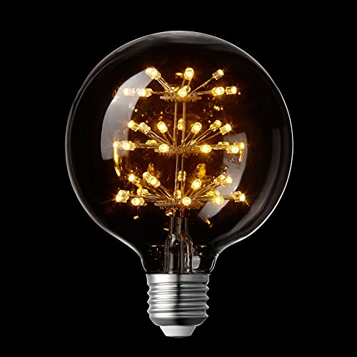 LIGHTSTORY Globe LED Bulb G30, E26 Base 2200K 3W