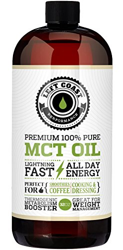 Premium Coconut MCT Oil, Huge 32 Oz. Easier To