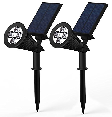 Lemontec 2-in-1 Adjustable 4 LED Wall / Landscape Solar