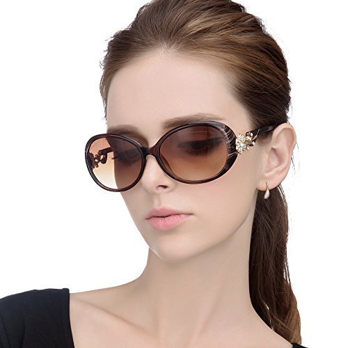 LianSan Fashion Oversized Women Uv400 Protection Polarized Lady Sunglasses