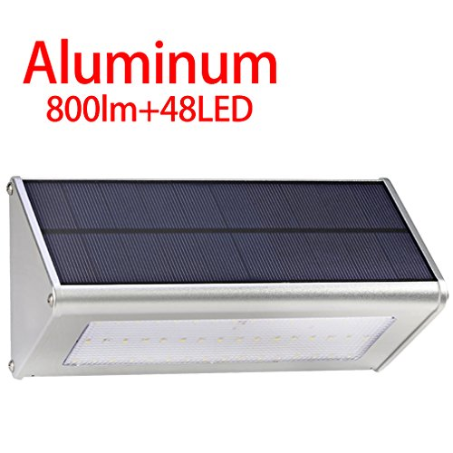 Licwshi Solar Lights 800 Lumen Waterproof Outdoor Aluminum Alloy