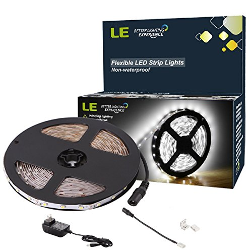 LE 16.4ft 12V Flexible LED Light Strip, LED Tape