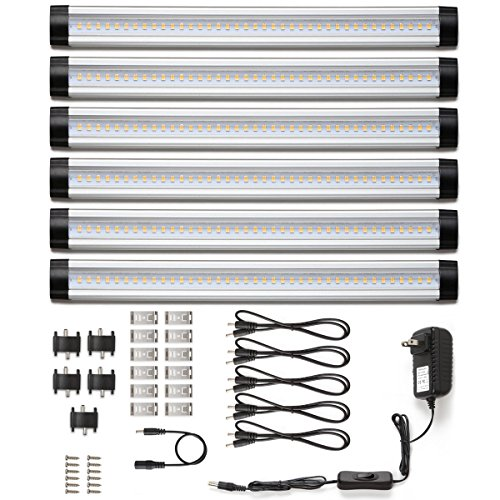LE Under Cabinet LED Lighting, 6 Panel Kit, 24W