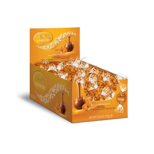 $15.88 Lindt LINDOR Caramel Milk Chocolate Truffles 60 Count Box