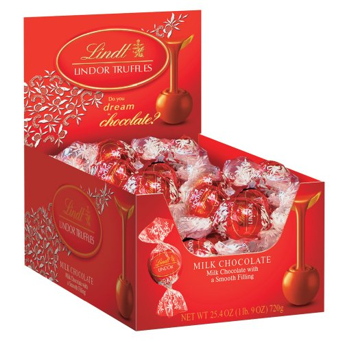 $15.88 Lindt LINDOR Milk Chocolate Truffles, 60 Count Box