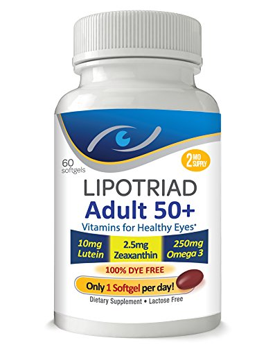 Lipotriad Adult 50+ Eye Vitamin  Mineral Supplement w/10mg