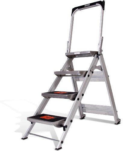 Little Giant Ladder Systems 10410BA Safety Step Stepladder with