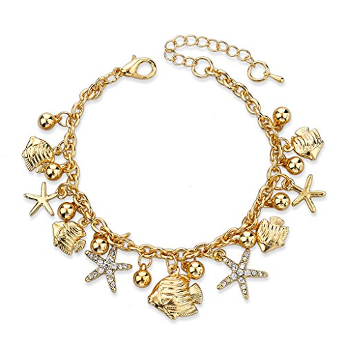 Long Way ® European Design Gold Charm Bracelets Bangles