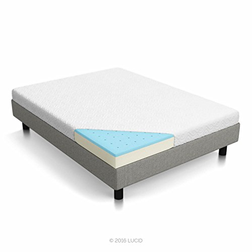 LUCID 5 Inch Gel Memory Foam Mattress - Dual-Layered