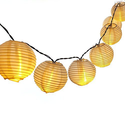 LUCKLED 30 LEDs Outdoor Lantern Solar String Lights, 19.7