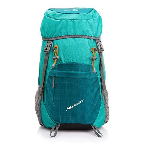 MANSOV Water Resistant Foldable Hiking Backpack Packable Daypack Lightweight