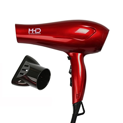 MHD Tourmaline Titanium Lightweight Blow Hair Dryer with 2