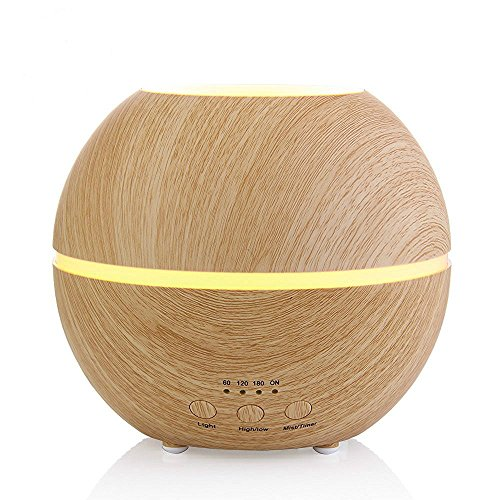 Essential Oil Diffuser, 300ml Ultrasonic Air Humidifier with 4
