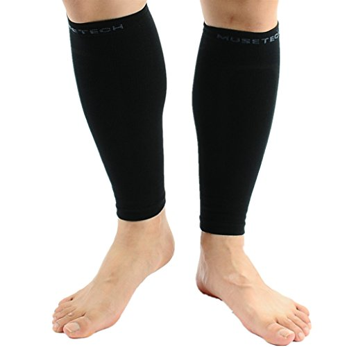 Calf Compression Sleeves (Pair) S/M Black