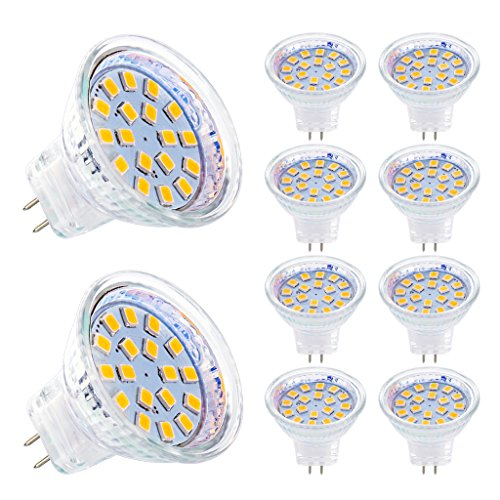MZD8391 3W MR11 GU4.0 Wide Angle LED Bulbs, 40W