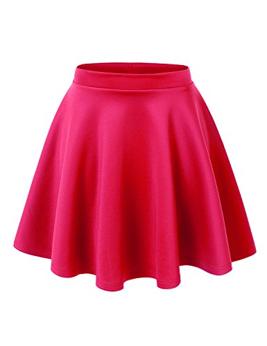 MBJ WB211 Womens Basic Versatile Stretchy Flared Skater Skirt