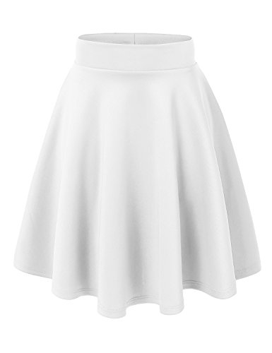 MBJ WB829 Womens Flirty Flare Skirt XXL WHITE