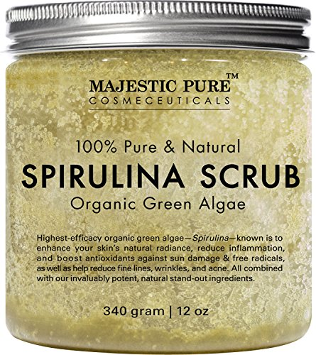 Spirulina Body Scrub from Majestic Pure, Natural Skin Care