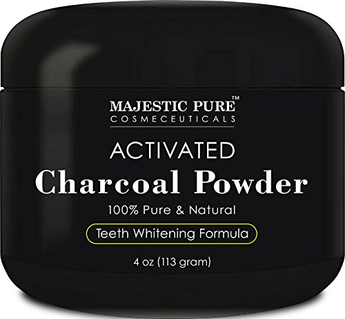 Majestic Pure Teeth Whitening Activated Charcoal Powder - Natural