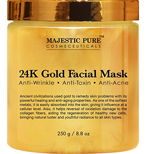 24K Gold Facial Mask from Majestic Pure, 8.8 Oz