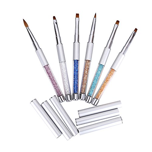MAKARTT® 6PCS Sable Acrylic Gel Brush Pen Set with