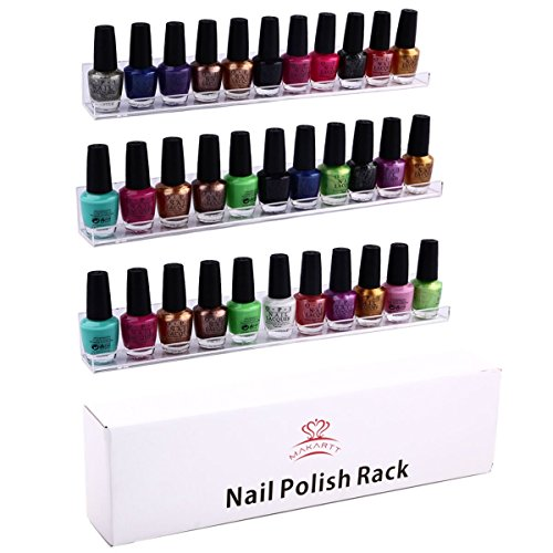 MAKARTT® 3 Tier Wall Mount Acrylic Nail Polish Rack