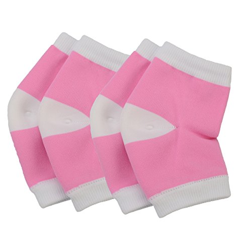 Makhry 2 Pairs Moisturizing Silicone GEL Heel Socks for