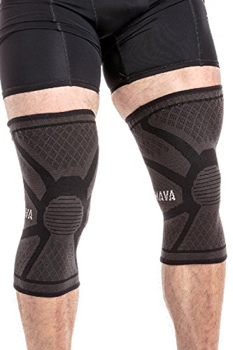 Mava Sports Knee Compression Sleeve Support (Black, Medium)