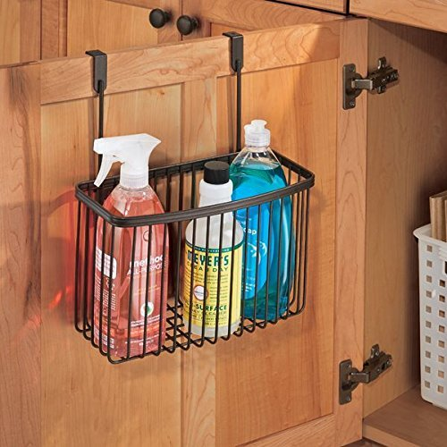 mDesign Over the Cabinet Kitchen Storage Organizer Basket for