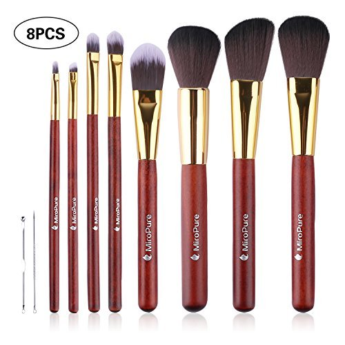 MiroPure 8 Piece Kabuki Makeup Brush Set