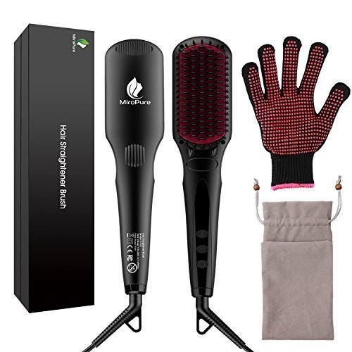 MiroPure 2 in 1 Ionic Hair Straightener Brush with