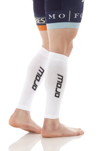 Compression Calf Sleeve - Mojo (White, Large)
