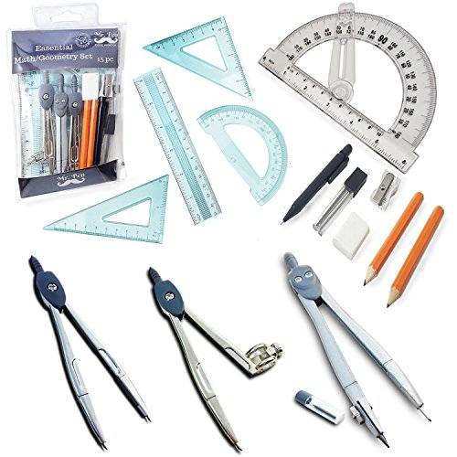 Mr. Pen- 15 Pcs Compass Set with Swing Arm