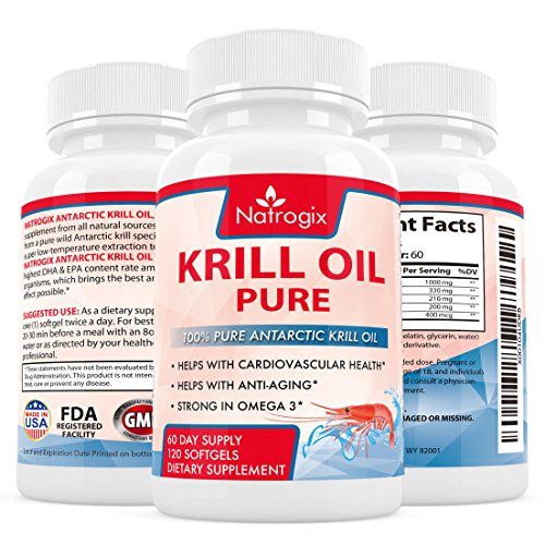 Natrogix 1000mg Antarctic Krill Oil with 540mg Omega-3, Real