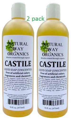 Castile Soap (Unscented) 16 Oz. (473ml) [Health and Beauty]-