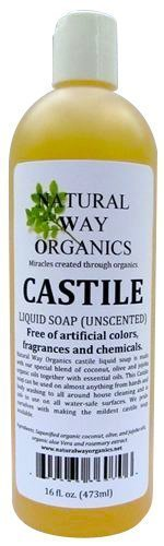 Natural Way Organics Ultra Mild Unscented Castile Soap, 16oz