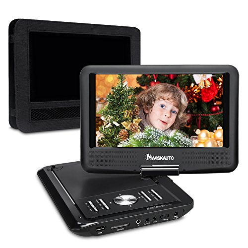 NAVISKAUTO 9 Inch Portable DVD/CD/MP3 Player USB/SD Card Reader