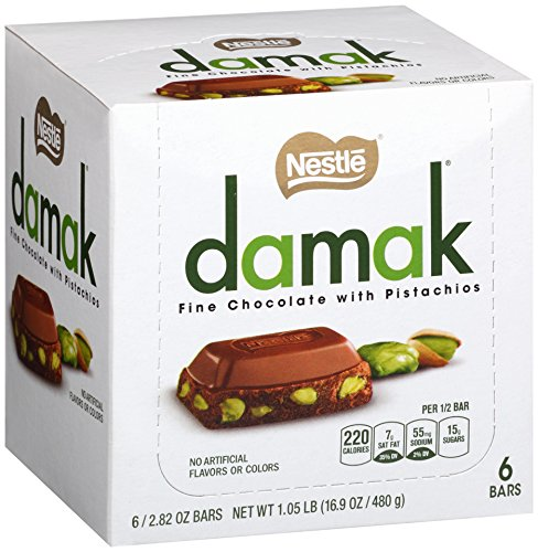 $14.99 Nestle Damak Fine Chocolate with Pistachios, 2.82 Ounce (Pack