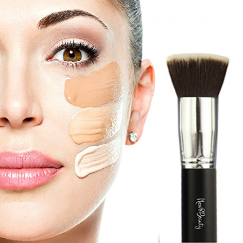 Best Foundation Brush Flat Top Kabuki Synthetic Face Brush