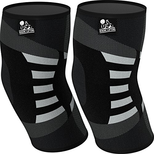 Elbow Compression Sleeves (1 Pair) - Support for Tendonitis